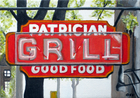 The Patrician Grill Sign